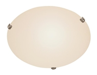 Picture for category Trans Globe 58707 WH Back to basics Flush Mounts 15in White Metal 3-light