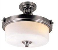 Picture for category Trans Globe 7925 BN Young hip Semi Flush 16in Brushed Nickel Metal 3-light