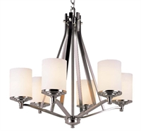 Picture for category Trans Globe 7926 BN Young hip Chandeliers 27in Brushed Nickel Metal 6-light