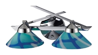 Picture for category Elk 1471/2CAR Refraction Vanity Lighting 16in Polished Chrome 2-light