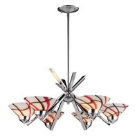 Picture for category Elk 1475/6CRW Refraction Chandeliers 26in Polished Chrome 6-light