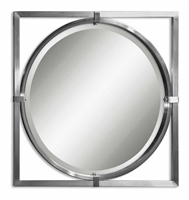 Picture for category Uttermost 01053 B Primo Mirrors 30in Brushed Nickel Finish. Metal