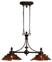 Picture for category Uttermost 21225 Fw generic Island Lighting 42in Metal & Glass & Resin 2-light