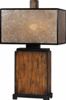 Picture for category Uttermost 26757-1 Primo Table Lamps 9in Wood Mica Metal 1-light