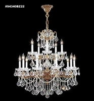 Picture for category James R. Moder 94340AB44 Madrid cast brass Chandeliers 33in