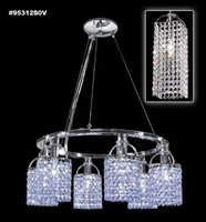 Picture for category James R. Moder 95312S2B Tekno mini bravo Chandeliers 22in