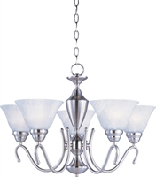 Picture for category Maxim 12063MRSN Newport Chandeliers 25in
