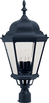 Picture of Maxim 1007BK Transitional Outdoor Post Light 13in