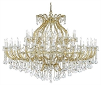 Picture for category Crystorama Lighting 4480-GD-CL-S Chandeliers Maria theresa