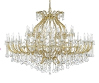 Picture for category Crystorama Lighting 4480-GD-CL-SAQ Chandeliers Maria theresa