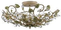 Picture for category Crystorama 4840-CT Champagne Semi Flush 21in Champagne Green Tea Wrought Iron