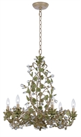 Picture for category Crystorama 4846-CT Champagne Chandeliers 25in Champagne Green Tea Wrought Iron