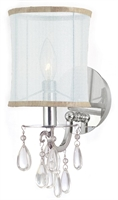 Picture for category Crystorama 5621-CH Hampton Wall Sconces 6in Polished Chrome Brass 1-light
