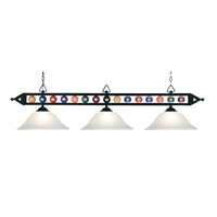 Picture for category Elk 190-1-BK-G1 Designer classics billiard island Island Lighting 58in 3-light