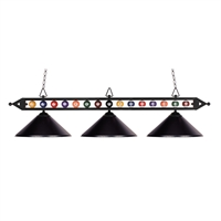 Picture for category Elk 190-1-BK-M Designer classics billiard island Island Lighting 58in 3-light