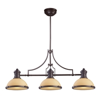 Picture for category Elk 66235-3 Chadwick Island Lighting 47in Oiled Bronze 3-light