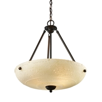 Picture for category Elk 66322-4 Earthflows tidewater Pendants 21in Aged Bronze 4-light