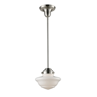 Picture for category Pendants 1 Light With Satin Nickel Finish Medium Base 8 inch 75 Watts - World of Lamp