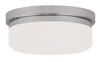 Picture for category Livex Lighting 7390-05 Flush Mounts 8in Chrome Steel 2-light