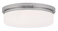 Picture for category Livex Lighting 7393-05 Flush Mounts 16in Chrome Steel 3-light
