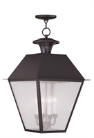 Picture for category Livex 2174-07 Mansfield Outdoor Pendant 15in Bronze 4-light