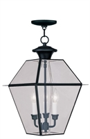 Picture for category Livex 2385-04 Westover Outdoor Pendant 12in Black 3-light