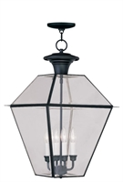 Picture for category Livex 2387-04 Westover Outdoor Pendant 15in Black 4-light
