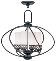 Picture for category Livex 4724-67 Westfield Chandeliers 22in Olde Bronze 4-light