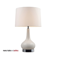 Picture for category Dimond 3925/1 Continuum Table Lamps 11in White Chrome Ceramic 1-light