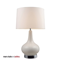 Picture for category Dimond 3935/1 Continuum Table Lamps 16in White Chrome Ceramic 1-light
