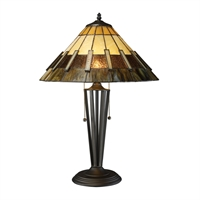 Picture for category Dimond D1860 Porterdale Table Lamps 16in Tiffany Bronze Metal Glass 2-light