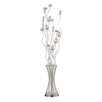 Picture for category Dimond D2130 Cyprus grove Floor Lamps 8in Satin Nickel Aluminum Ceramic 6-light