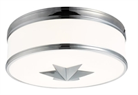 Picture for category Hudson Valley 1115-PC Seneca Flush Mounts Polished Chrome 3-light