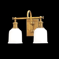 Picture for category Hudson Valley 1972-AGB Keswick Bath Lighting 14in Aged Brass 2-light