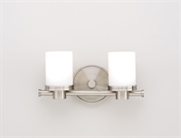 Picture for category Hudson Valley 2052-SN Southport Bath Lighting 12in Satin Nickel 2-light