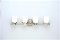Picture for category Hudson Valley 2054-SN Southport Bath Lighting 25in Satin Nickel 4-light