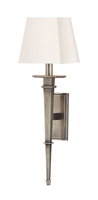 Picture for category Hudson Valley 230-AS-WS Stanford Wall Lantern 6in Aged Silver 1-light