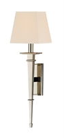 Picture for category Hudson Valley 230-PN Stanford Wall Lantern 6in Polished Nickel 1-light
