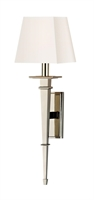 Picture for category Hudson Valley 230-PN-WS Stanford Wall Lantern 6in Polished Nickel 1-light