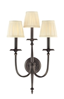 Picture for category Hudson Valley 5203-OB Jefferson Wall Lantern 14in Old Bronze 3-light