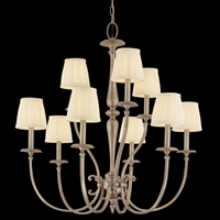 Picture for category Hudson Valley 5219-AN Jefferson Chandeliers Antique Nickel 9-light