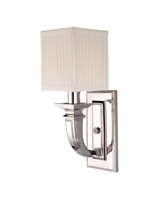 Picture for category Hudson Valley 541-PN Phoenicia Wall Lantern 5in Polished Nickel 1-light