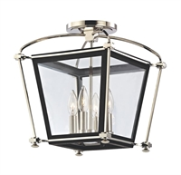 Picture for category Hudson Valley 3610-PN Hollis Semi Flush 13in Polished Nickel 4-light