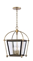 Picture for category Hudson Valley 3612-AGB Hollis Pendants 13in Aged Brass 4-light