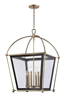 Picture for category Hudson Valley 3624-AGB Hollis Chandeliers 24in Aged Brass 8-light