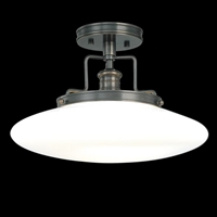 Picture for category Hudson Valley 4205-SN Beacon Semi Flush Satin Nickel 1-light