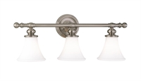 Picture for category Hudson Valley 4503-SN Weston Bath Lighting 25in Satin Nickel 3-light