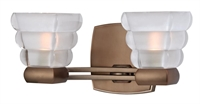Picture for category Hudson Valley 5042-BB Warren Bath Lighting 11in Brushed Bronze 2-light