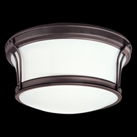 Picture for category Hudson Valley 6510-SN Newport flush Flush Mounts Satin Nickel 2-light