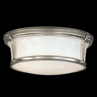 Picture for category Hudson Valley 6513-SN Newport flush Flush Mounts Satin Nickel 2-light